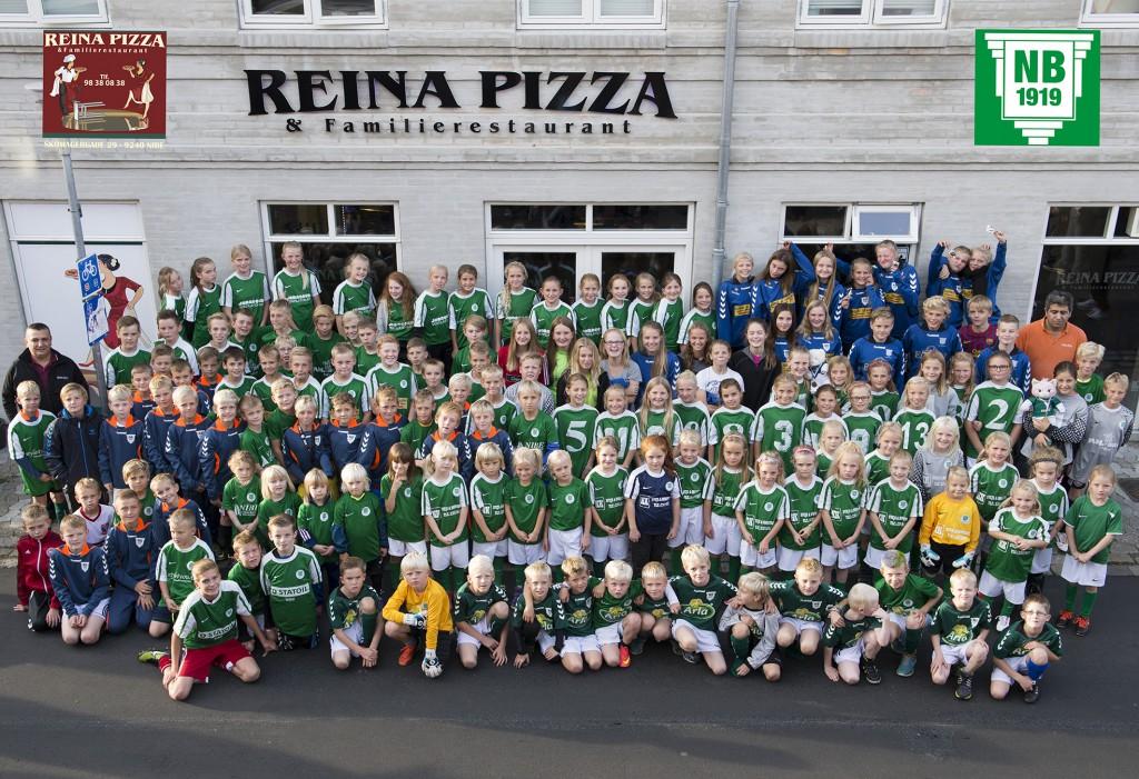 Reina Pizza og familierestaurant er hovedsponsor for Nibe boldklub